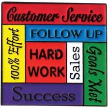 Customer Service - Hard Work Lapel Pins