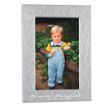 """Deluxe Engraved 5"""" x 7"""" Aluminum Photo Frame"""