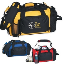 Deluxe Sports Duffel Bag with Imprint