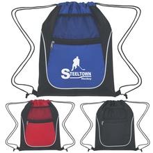 Custom Drawstring Sports Packs with Dual Pockets