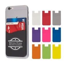 Custom Dual Pocket Silicone Phone Wallets