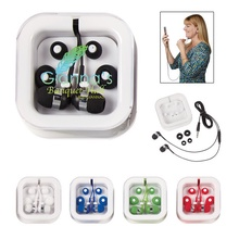 Promotional Ear Buds with Microphone