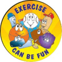 Exercise Can Be Fun Stickers