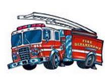 Fire Engine Temporary Tattoos