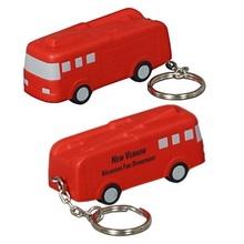 Custom Fire Truck Stress Ball Key Chains