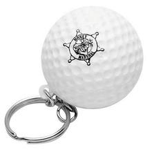Imprinted Golf Ball Stress Ball Key Chain
