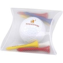 Promotional Golf Ball & Tees Pillow Pack