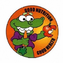 Good Nutrition, Good Health Stickers