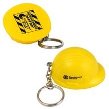 Hard Hat Stress Ball Personalized Key Chain