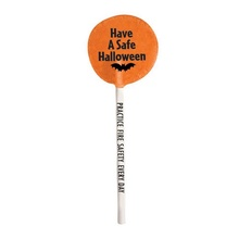 Personalized Have A Safe Halloween Lollipops