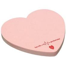 Custom Heart Adhesive 25 Sheet Notepads