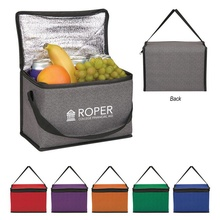 Heathered Non-Woven Custom Cooler Lunch Bags