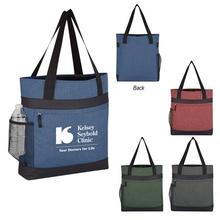 Hidden Zipper Outing Custom Tote Bags