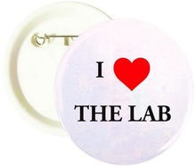I Love The Lab Buttons