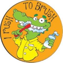 I Rush To Brush Stickers