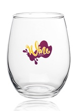 Imprinted 15 oz. Stemless Wine Glasses