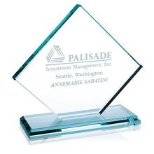 Laser Engraved Jade Diamond Award