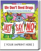 Just Say No Personalized Coloring & Activities Books