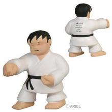 Imprinted Karate Man Stress Balls