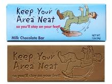 Keep Your Area Neat Chocolate Bars