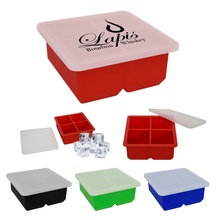 Large Ice Cube Tray with Imprint