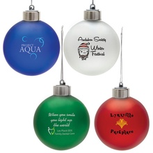 Light-Up Shatter Resistant Ornament with Logo