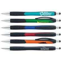 Imprinted Metallic Pattern Grip Stylus Pens