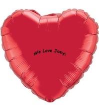Custom MicroFoil Heart Balloons