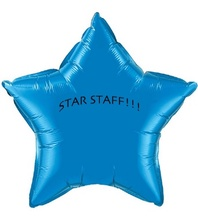 Custom MicroFoil Star Balloons