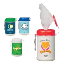 Mini Wet Wipe Canister with Custom Imprint