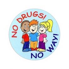 No Drugs, No Way Stickers