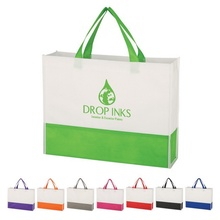 Non-Woven Prism Tote Bag with Custom Printing