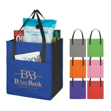 Non-Woven Shopper's Pocket Tote Bag with Printing