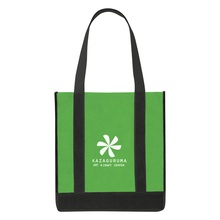 Non-Woven Two-Tone Custom Shopper Tote Bags