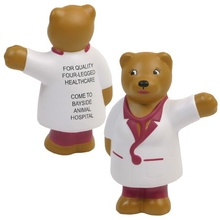Personalized Nurse Bear Stress Balls