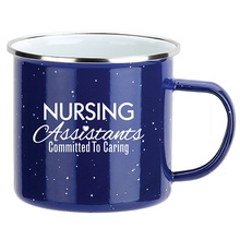 Nursing Assistants Enamel-Lined Iron Coffee Mugs