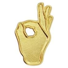 OK Hand Sign Lapel Pin