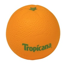 Orange Stress Balls with Logo