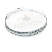 Personalized Oval Paperweights