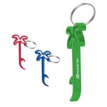 Palm Tree Promotional Bottle Opener Key Rings