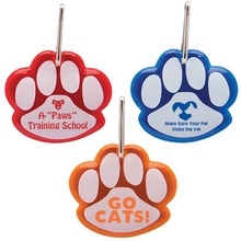 Paw Shaped Reflective Logo Collar Tags