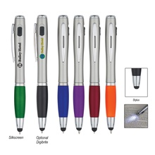 Custom Pen With LED Light And Stylus