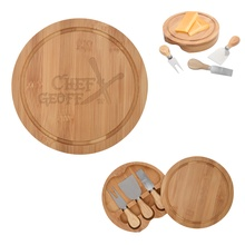 Personalized 3-Piece Bamboo Cheese Server Kit