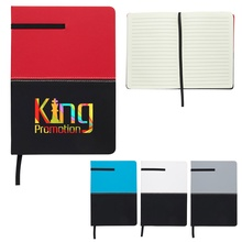 Personalized Two-Tone Leatherette Journals
