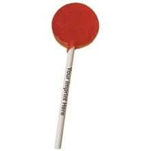 Plain Candy Lollipops with Imprinted Sticks