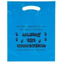 """Custom Printed Plastic Die Cut Bag - 15"""" x 19"""" x 3"""""""