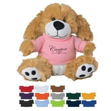 Plush Big Paw Dog with Shirt - 6""