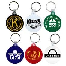 Promotional Soft Circle Key Fobs