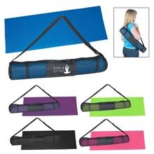PVC Yoga Mat & Carrying Case with Logo Imprint