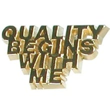 Quality Begins with Me Lapel Pins